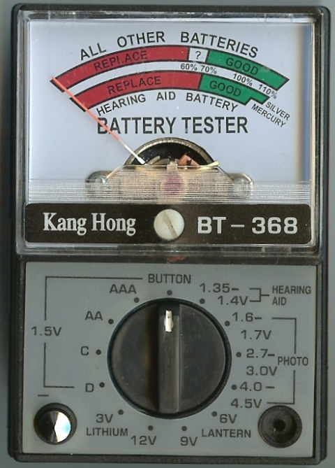 Analogue Battery Tester - BT 368
